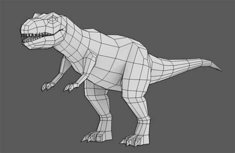 tutorial blender 3d modeling uvmapping and texturing a low poly t rex in