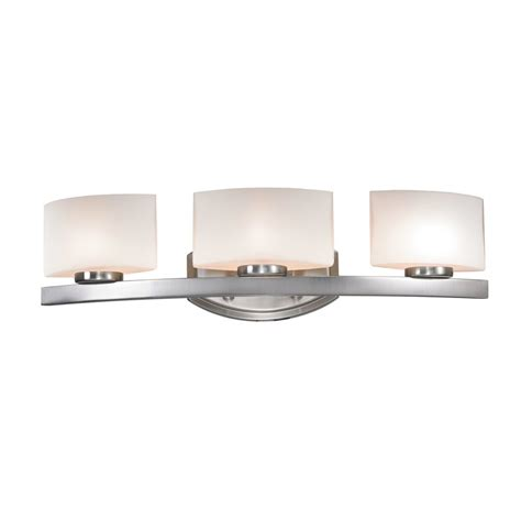 3 light bathroom fixtures shop z lite 3 light cetynia brushed nickel bathroom vanity