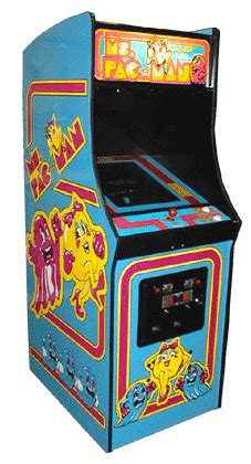 ms pacman arcade cabinet ms pac videogame by midway manufacturing co