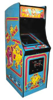 Pacman Table Ms Pac Man Videogame By Midway Manufacturing Co