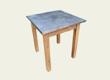 bistro table top only square zinc table tops bistro