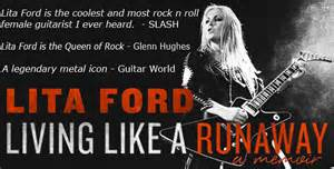 Lita Ford Living Like A Runaway Lita Ford Memoir
