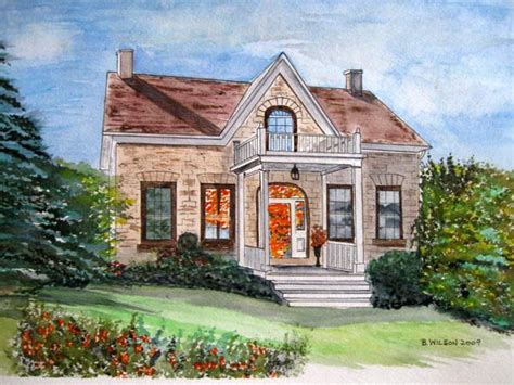 painting of houses buildings cottages heritage homes house paintings in