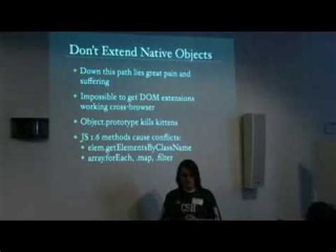 javascript layout best practices best practices in javascript library design youtube