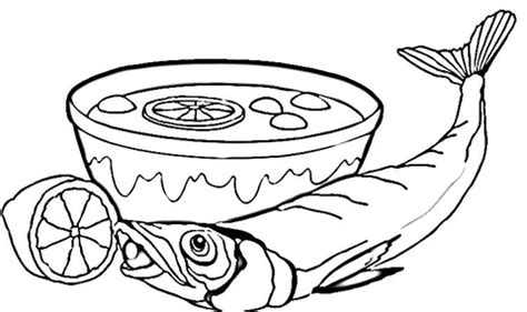 cooked fish coloring page coloring pictures of cooked fish coloring pages