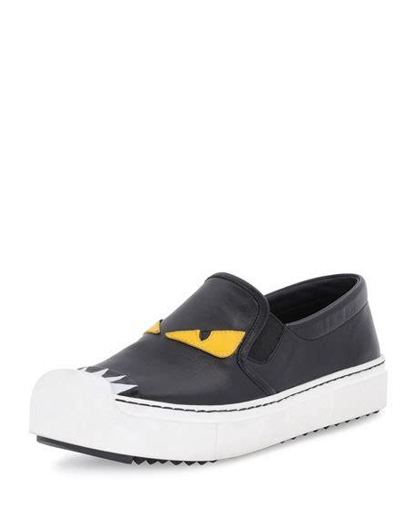 Snarkers Fendy fendi leather skate sneaker black