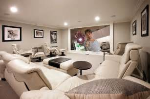 Home Movie Room Decor by 10 Awesome Basement Home Theater Ideas