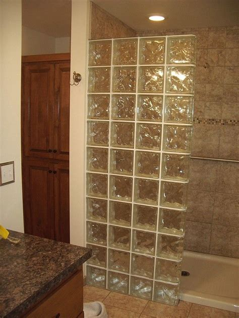 glass block designs for bathrooms glass block shower stalls images bathroom