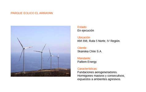 pattern energy el arrayan proyectos hormigones en obra 187 andescura servicios para