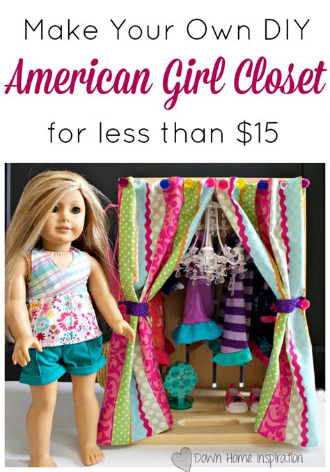 build your bedroom make your own stuff make your own make your own diy american girl closet for less than 15