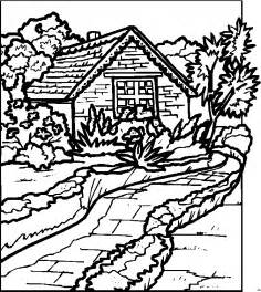 mountain log cabin coloring pages coloring pages