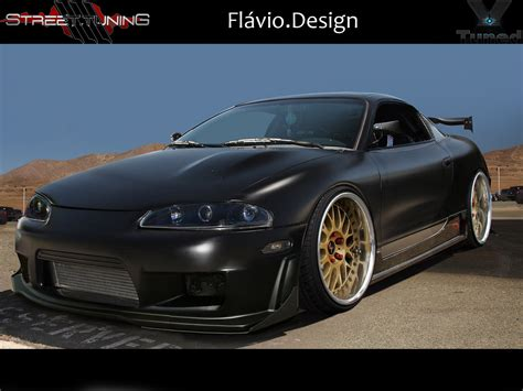 eclipse mitsubishi black mitsubishi eclipse black matte by flaviobauck on deviantart