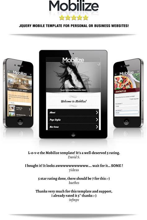 mobile themes themeforest mobilize jquery mobile wordpress theme by beantownthemes