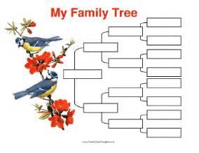 4 generation family tree template free 4 generation family tree with birds template