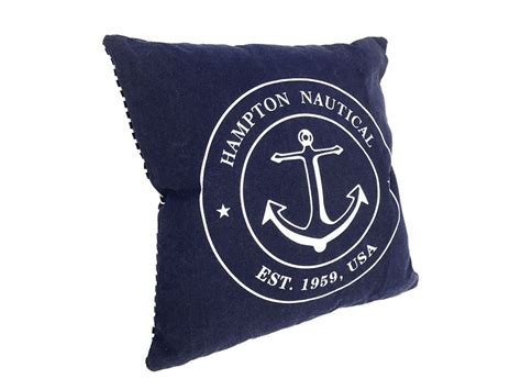 Nautical Pillows Wholesale by Decorative Blue Hton Nautical With Anchor Throw Pillow 16 Quot