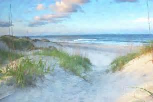 Seaside Duvet Cover On The Beach Watercolor Digital Art By Randy Steele