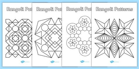 pattern worksheet twinkl rangoli patterns templates rangoli patterns template
