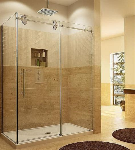 New Shower Doors Wholesale 2015 New Bathroom Design Rectangular Frameless Tempered Glass Sliding Shower Door