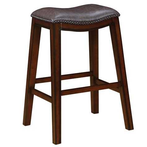armchair bar stools coaster dining chairs and bar stools upholstered backless bar stool with nailhead trim del sol