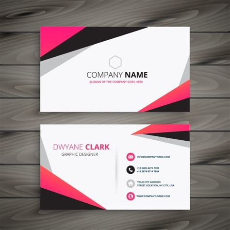 abstract business card with color pink and grey vector