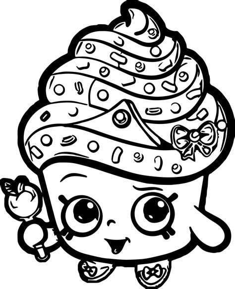 shopkins cake coloring pages cupcake queen shopkins coloring page wecoloringpage