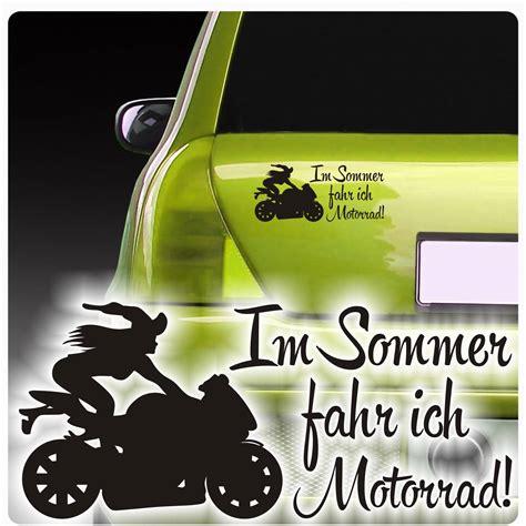 Auto Aufkleber Motorrad by Auto Aufkleber Im Sommer Fahr Ich Motorrad Sticker Hexe