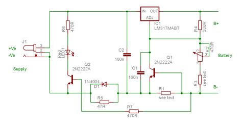 lithium battery charger schematic and easy lithium ion battery charger schematic
