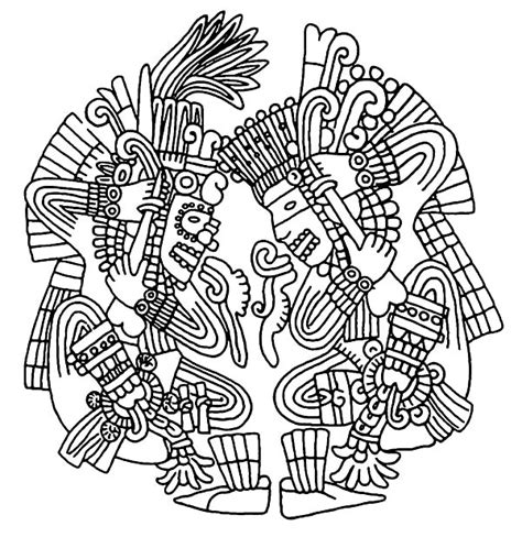 Aztec Free Colouring Pages Aztec Coloring Pages