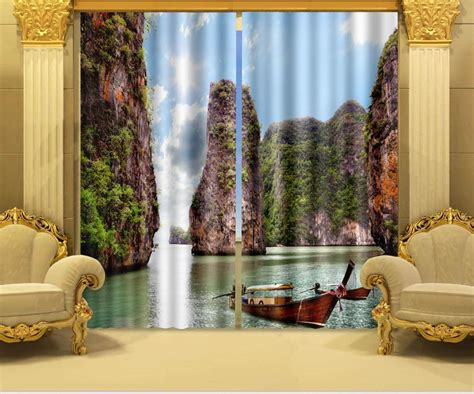 3d curtains photo print stereoscopic 3d curtains only beautiful sea