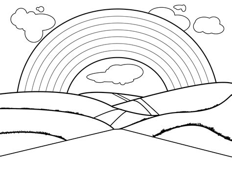 rainbow coloring page free printable rainbow coloring pages for