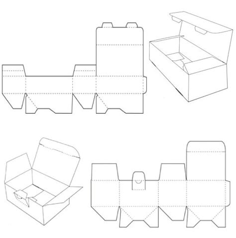 templates for foldable boxes locking tabs corrugated and folding carton box templates