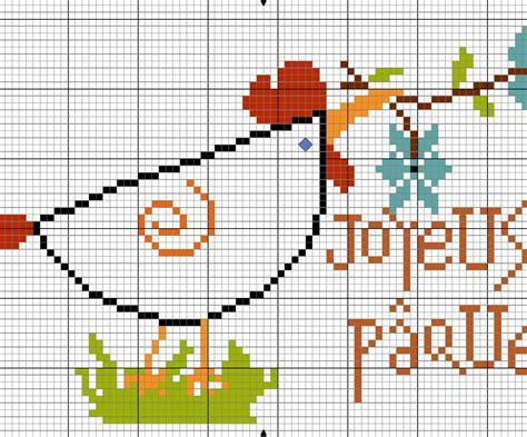 schemi ricamo fiori gallina con fiori punto croce