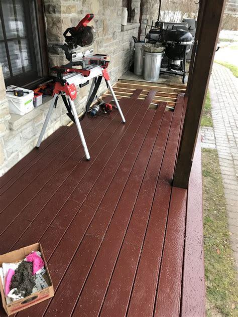 resurface  wooden deck  composite lumber