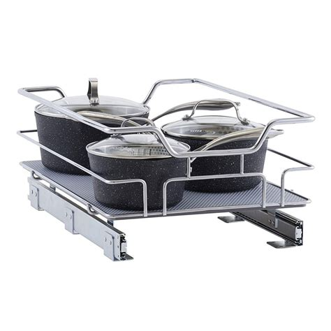 sliding cabinet organizer chrome sliding cabinet organizer in pull out baskets