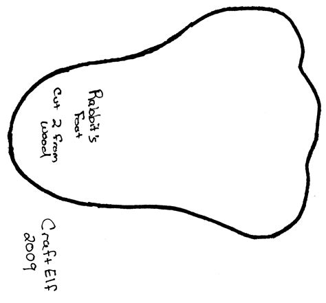 bunny foot pattern