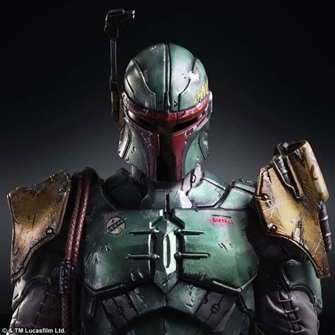awesome looking play arts variant star wars boba fett and