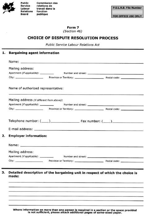 Dispute Resolution Template Alternative Dispute Form Resolution Teajqqw