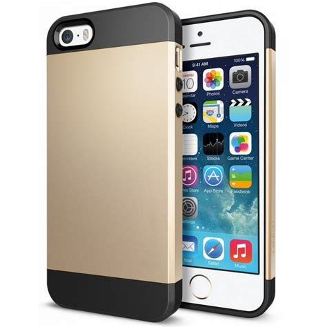 fundas par iphone 5s funda armor dorada para iphone 5 5s pccomponentes