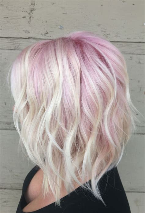 blonde bob pink 15 ways to add bright color to your a line bob haircut