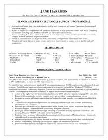 At Home Tech Support Sle Resume by Entry Level Tech Support Resume Sales Support Lewesmr