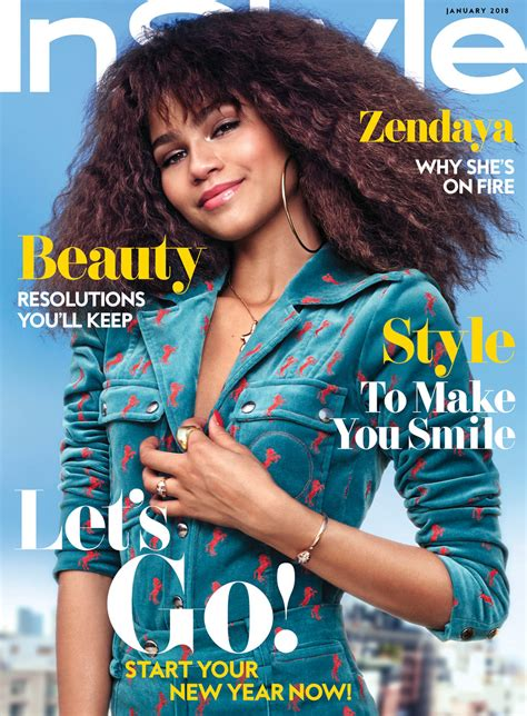 I This On In Style Magazines Site What Is In Your Bag by Zendaya Coleman Covers The January Issue Of Instyle