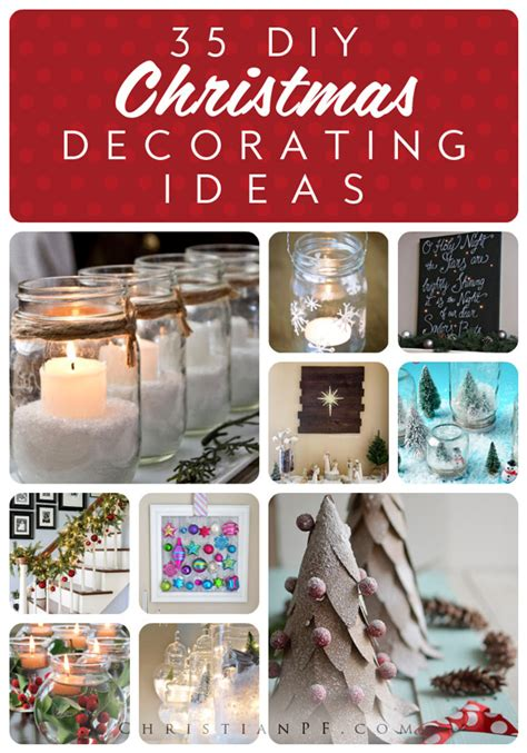 diy christmas home decorations 35 creative diy christmas decorating ideas