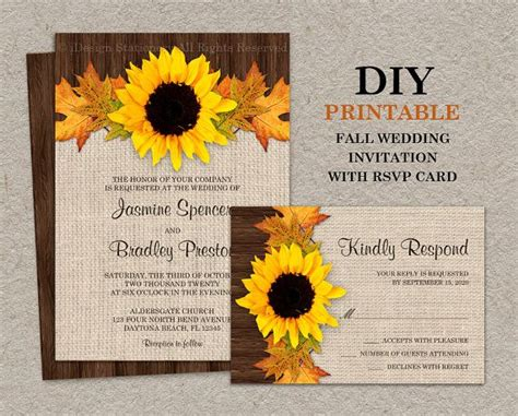 sunflower wedding invitations kits 142 best fall wedding invitations and coordinated products