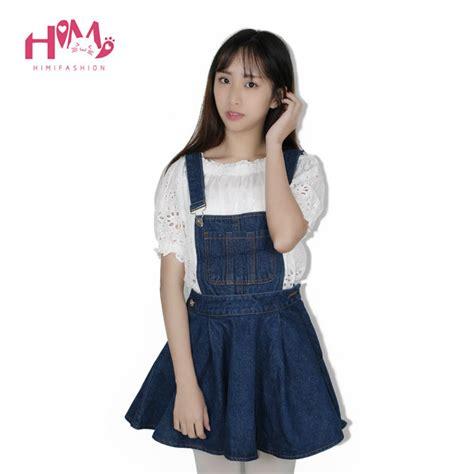 Darkblue Leisure Flower S M L Dress vivi japan school denim dress for blue
