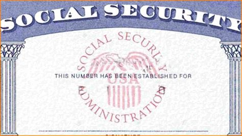 Blank Social Security Card Template by Social Security Card Template Template Ideas
