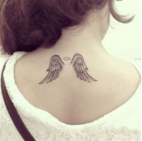 small wing tattoos on back small wings on back