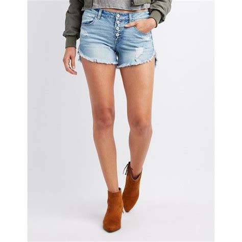 Destroyed Denim Slip On For best 25 ripped jean shorts ideas on summer