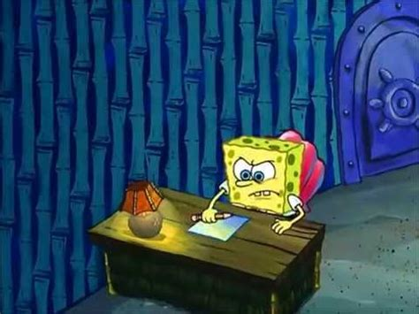 spongebob writing paper an essay by spongebob squarepants