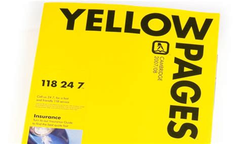 Business Phone Lookup Yellow Pages Is The Number Up For The Yellow Pages Environment The Guardian
