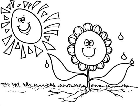 spring sun coloring page janice s daycare seasons spring